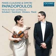 Marie-Claudine & Dimitri Papadopoulos - Werke für Violine & Klavier, CD
