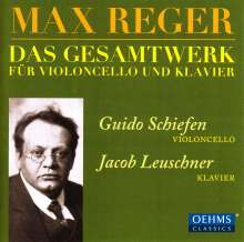 Max Reger (1873-1916): Sämtliche Werke für Cello & Klavier, 2 CDs