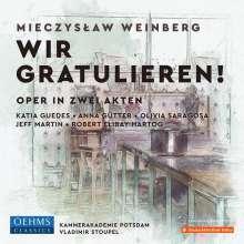 Mieczyslaw Weinberg (1919-1996): Wir gratulieren! (Oper in 2 Akten), 2 CDs