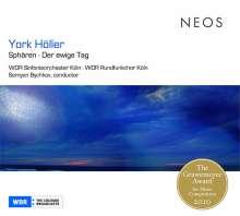 York Höller (geb. 1944): Sphären für großes Orchester & Live-Elektronik, CD