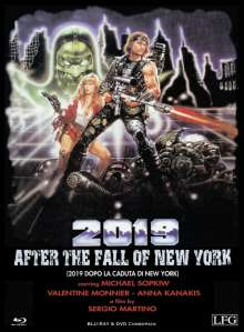 2019 - After the fall of New York (Fireflash) (Blu-ray & DVD im Mediabook), 1 Blu-ray Disc und 1 DVD