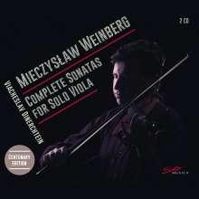 Mieczyslaw Weinberg (1919-1996): Sonaten für Viola solo Nr.1-4, 2 CDs