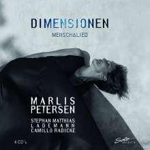 Marlis Petersen - Dimensionen Mensch & Lied, 4 CDs