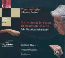 Felix Mendelssohn Bartholdy (1809-1847): 6 Lieder im Freien zu singen op.48 & 59, CD