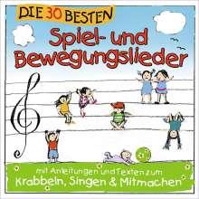 Die 30 besten Spiel- und Bewegungslieder - Kinderlieder und Babylieder, CD