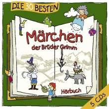 Jacob Grimm: Die 30 Besten Märchen Der Brüder Grimm, 5 CDs