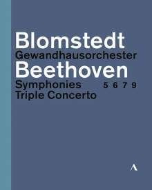 Ludwig van Beethoven (1770-1827): Symphonien Nr.5-7,9, 3 Blu-ray Discs