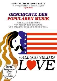 All you need is Love - Geschichte der populären Musik, 5 DVDs