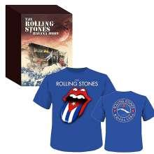 The Rolling Stones: Havana Moon (Limited-Edition) + Shirt Gr.L, 1 Blu-ray Disc, 2 CDs und 1 T-Shirt