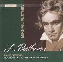 Ludwig van Beethoven (1770-1827): Klaviersonaten Nr.14,21,23, CD