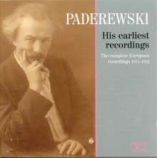 Ignace Jan Paderewski - His Earliest Recordings, 2 CDs