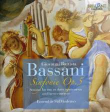 Giovanni Battista Bassani (1657-1716): Sinfonie op.5 Nr.1-12, 2 CDs