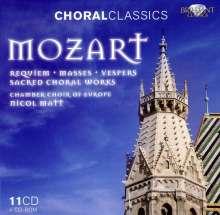 Wolfgang Amadeus Mozart (1756-1791): Das Geistliche Werk, 11 CDs