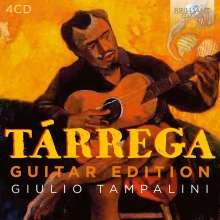 """Francisco Tarrega (1852-1909): Gitarrenwerke """"Guitar Edition"""", 4 CDs"""