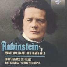 Anton Rubinstein (1829-1894): Werke für Klavier 4-händig Vol.1, CD