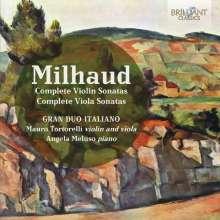 Darius Milhaud (1892-1974): Sonaten für Violine & Klavier Nr.1 & 2, 2 CDs