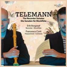 Georg Philipp Telemann (1681-1767): Sonaten für Blockflöte & Cembalo, CD