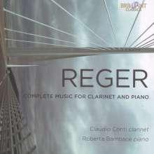 Max Reger (1873-1916): Sämtliche Werke für Klarinette & Klavier, CD