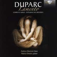 """Henri Duparc (1848-1933): Sämtliche Lieder """"Lamento"""", CD"""