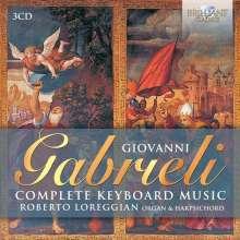 Giovanni Gabrieli (1557-1612): Sämtliche Werke für Tasteninstrumente, 3 CDs