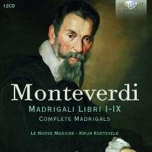 Claudio Monteverdi (1567-1643): Madrigali Libri I-IX (Gesamtaufnahme), 12 CDs