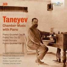 Serge Tanejew (1856-1915): Kammermusik mit Klavier, 3 CDs