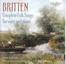 Benjamin Britten (1913-1976): Complete Folk Songs für Stimme & Klavier, 2 CDs