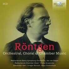 Julius Röntgen (1855-1932): Orchesterwerke,Chor- und Kammermusik, 2 CDs