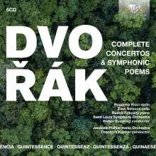 Antonin Dvorak (1841-1904): Sämtliche Symphonische Dichtungen & Konzerte, 5 CDs