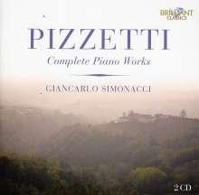Ildebrando Pizzetti (1880-1968): Sämtliche Klavierwerke, 2 CDs