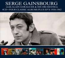 Serge Gainsbourg: Four Classic Albums Plus EPs 1958 - 1962, 4 CDs