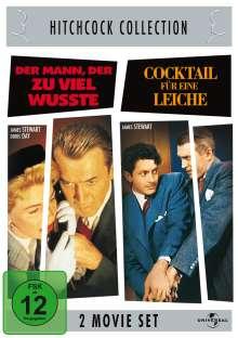 Hitchcock: Der Mann, der zuviel wusste / Cocktail für eine Leiche, 2 DVDs
