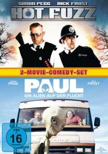 Hot Fuzz & Paul, 2 DVDs