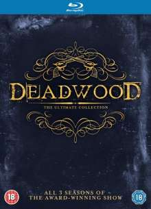 Deadwood Season 1-3 (The Complete Collection) (Blu-ray) (UK Import mit deutscher Tonspur), 9 Blu-ray Discs
