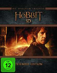 Der Hobbit: Die Trilogie (Extended Edition) (3D & 2D Blu-ray), 15 Blu-ray Discs