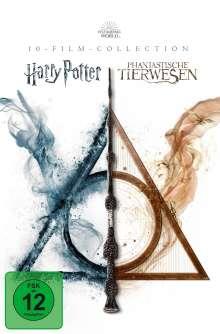 Wizarding World (Harry Potter & Phantastische Tierwesen) (10-Film Collection), 13 DVDs
