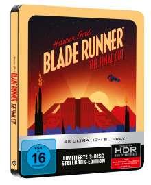 Blade Runner (Final Cut) (Ultra HD Blu-ray & Blu-ray im Steelbook), 1 Ultra HD Blu-ray und 2 Blu-ray Discs