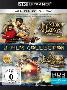 Jim Knopf & Lukas der Lokomotivführer / Jim Knopf und die Wilde 13 (Ultra HD Blu-ray & Blu-ray), 2 Ultra HD Blu-rays und 2 Blu-ray Discs
