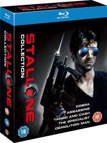 Sylvester Stallone Collection (Blu-ray) (UK Import mit deutschen Untertiteln), 5 Blu-ray Discs