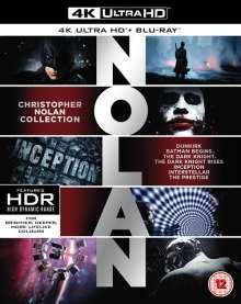 Christopher Nolan 4K Ultra HD Collection (Ultra HD Blu-ray & Blu-ray) (UK Import), 7 Ultra HD Blu-rays und 14 Blu-ray Discs