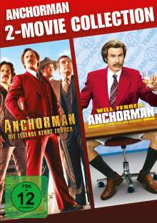 Anchorman 1 & 2, 2 DVDs