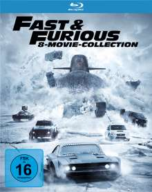 Fast & Furious (8-Movie Collection) (Blu-ray), 8 Blu-ray Discs