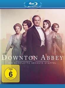 Downton Abbey Staffel 6 (finale Staffel) (neues Artwork) (Blu-ray), 1 Blu-ray Disc und 3 DVDs