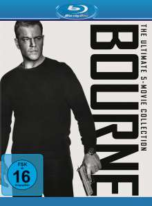 Bourne - The Ultimate 5-Movie Collection (Blu-ray), 1 Blu-ray Disc und 4 DVDs