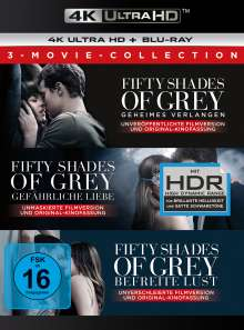 Fifty Shades of Grey - 3-Movie Collection (Ultra HD Blu-ray & Blu-ray), 3 Ultra HD Blu-rays und 3 Blu-ray Discs