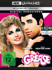 Grease (Digital Remastered) (Ultra HD Blu-ray & Blu-ray), 1 Ultra HD Blu-ray und 1 Blu-ray Disc