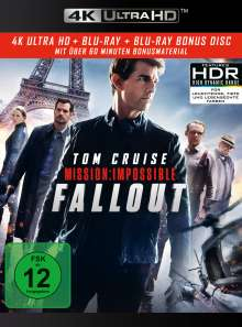 Mission: Impossible 6 - Fallout (Ultra HD Blu-ray & Blu-ray), 1 Ultra HD Blu-ray und 2 Blu-ray Discs