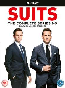 Suits Season 1-9 (Blu-ray) (UK Import), 34 Blu-ray Discs