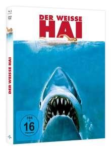 Der weiße Hai (45th Anniversary Limited Edition) (Blu-ray & DVD im Mediabook), 1 Blu-ray Disc und 1 DVD