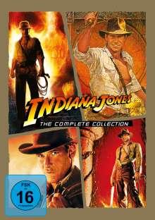 Indiana Jones 1-4: Die komplette Tetralogie, 5 DVDs